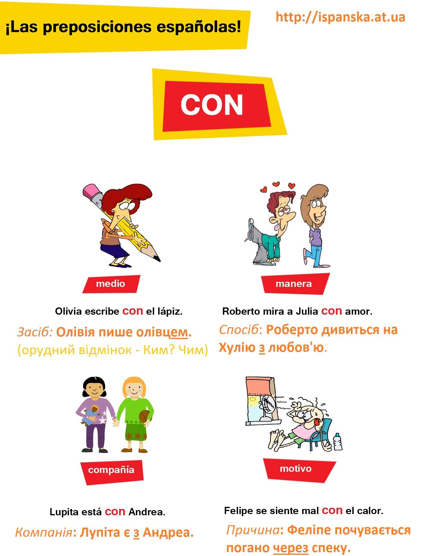 """Прийменник """"con"""" в іспанській мові"""